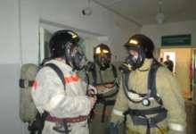 Учебная эвакуация. Из пожара вывели персонал и больных