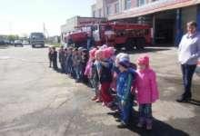 Воспитанники детского сада «Солнышко» посетили пожарную часть №62 города Карталы