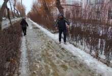 Зима в Карталах не сдает позиций