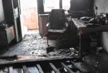 В Карталах произошел пожар в пятиэтажном доме