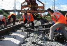 Участок железной дороги отремонтировали