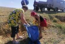 Жители села собрались на экологический субботник