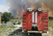 Около Запасного полыхает пожар